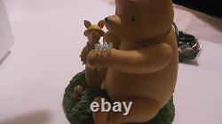 Rare Disney Winnie L'ourson Et Porcinet Sous Umbrella Lampe De Collection New Lmp1