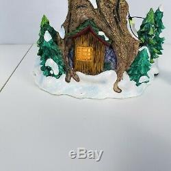 Rare Disney Winnie L'ourson Tree House Décoration De Noël Light Up Statue