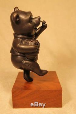 Rare Harry Holt Winnie The Pooh Disney Édition Limitée Bronze Statue 92/200 Coa