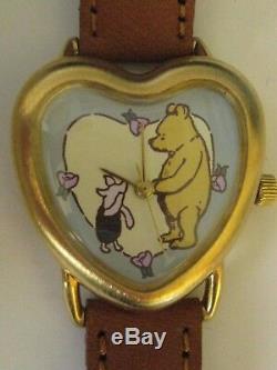 Rare Ingersoll Timex Classic Winnie L'observatoire De La Buse Et Du Porc Disney Nouveauté
