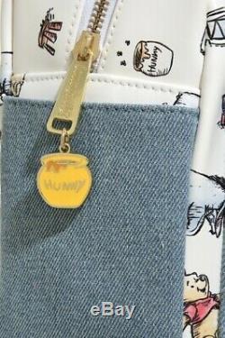 Rare! Nouveau Avec Les Étiquettes! Disney Loungefly Classique Pooh Mini Sac À Dos! Mignonne
