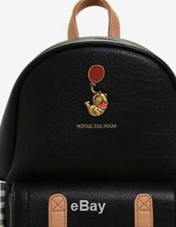 Rare! Nouveau Avec Les Étiquettes! Loungefly Disney Winnie L'ourson Plaid Mini Sac À Dos