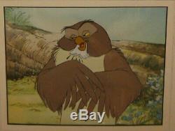Rare Originale 1966 Winnie L'ourson Owl Walt Disney Animation Production Cel