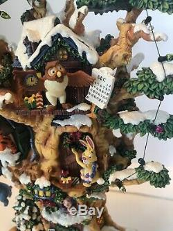 Rare Winnie The Pooh Calendrier Disney Preuve D'artiste De Bradford Exchange! Plâtre Allumé