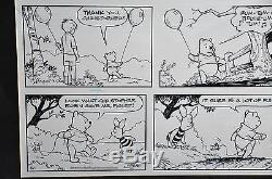 Richard Sparky Moorewinnie The Pooh Original Comic Art, Encadré 27 X 19