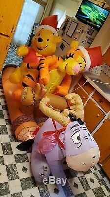 Sautoir À Bûches Disney Winnie The Pooh Tigger Gonflable Noël De Gemmy