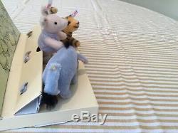 Steiff Classique Ourson Winnie L'ourson Jeu Miniature De 3