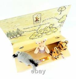 Steiff Disney Mohair Classic Pooh Set Piglet Tigger Eeyore Edition Limitée 2002