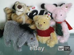 Steiff Ltd Christopher Robin Winnie Le Pooh Set 4.8in. / 12cm Ean 355417
