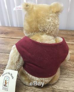 Steiff Winnie L'ourson Disney Mohair Classic Tag Blanc Le 651489 Allemagne # 1189