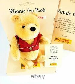 Steiff Winnie The Pooh 75th Anniversary Bear Limited Ed 2001 Disney