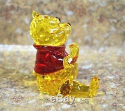 Swarovski 1142889 Winnie L'ourson Et Figurine En Cristal De Pals Avec Pot De Miel