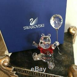 Swarovski Crystal Disney Winnie L'ourson Avec Ballon # 905768- Mint In Box Withcoa