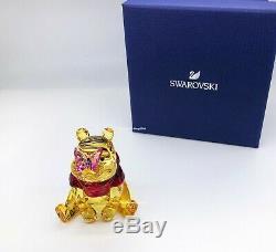 Swarovski Disney Winnie L'ourson Avec Papillon Cristal Figurine Afficher 5282928