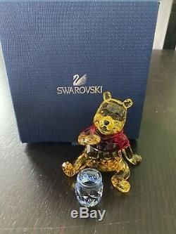 Swarovski Winnie L'ourson Avec Honey Pot 1142889 Nib Rare