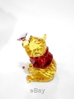 Swarovski Winnie L'ourson Avec Papillon Disney Crystal Figure Authentique 5282928
