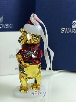 Swarovski Winnie L'ourson Noël Mib # 5030561