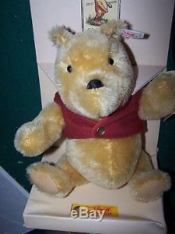 Tag Steiff Signé Paul Johnson Président De Steiff, Winnie The Pooh Ean 651489