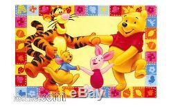 Tappeto Winnie L'pooh Et Amici Tigro Pimpi Ro Girotondo Giallo 100x170cm Disney