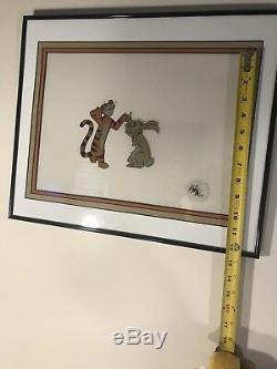 Tigrou Et Lapin Winnie L'ourson Cellule D'animation Walt Disney Orig Peint À La Main Cel