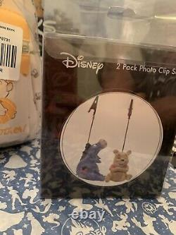 Tn-o Disney Loungefly Winnie L'ourson Lot Mini Card Wallet Sac À Dos Et Clips Photo