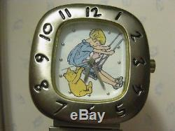 Veryrare Ingersoll Timex Classic Christopher Robin Et Winnie The Pooh Watch Nouveau