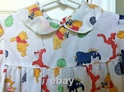Vintage 70 Filles Winnie L'ourson Excellent Robe Sears 6x