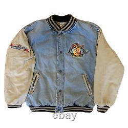 Vintage Années 90 Disney Winnie The Pooh Denim Varsity Jacket Xxxtentacion Sz L
