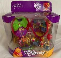 Vintage Disney Magical Miniatures Winnie L'ourson Polly Ballon Playset New 1999