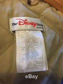 Vintage Disney Store Winnie L'ourson Varsity Veste Bomber Denim No Hood Taille S