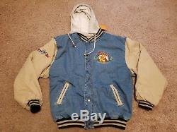 Vintage Disney Store XL Manteau Avec Manteau Varsity En Denim Winnie L'ourson