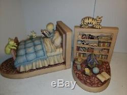 Vintage Disney Winnie L'ourson Classique Christopher Robins Bookends Rare