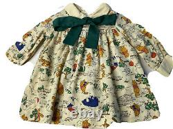 Vintage Disney Winnie The Pooh Characters Girls Taille 3 Robe Sears