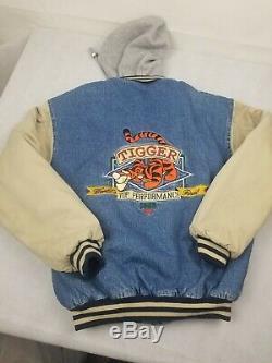 Vintage Tigger Winnie L'ourson Disney Denim Varsity Jacket Xxxtentacion Men's S