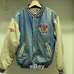 Vintage Tigrou Winnie L'ourson Disney Denim Varsity Jacket Xxxtentacion S Masculine