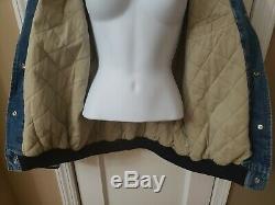 Vintage Unisexe Disney Store Veste En Jean Varsity Winnie L'ourson Dize Large 11a