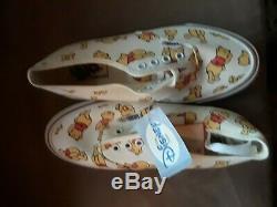 Vintage Vans Disney Winnie L'ourson Sneakers Fabriqué Aux États-unis Sz 7 Femmes Tno