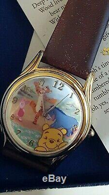 Vtg Disney Winnie L'ourson De Collection Adventures Montre Li2038new Par Fossil