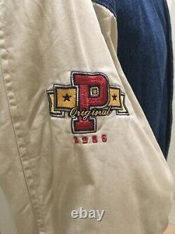 Vtg Disneyland 1966 Winnie L'ourson & Friends Denim Varsity Jacket Unisexe Med