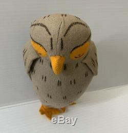 Vtg Old Winnie L'ourson Agnes Brosse Peluche Disney Antique Owldoll Oiseau