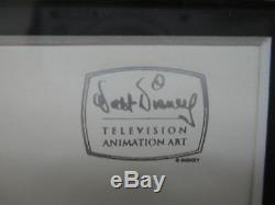 Walt Disney Television Winnie L'ourson Production Originale Cel & Drawing Encadré