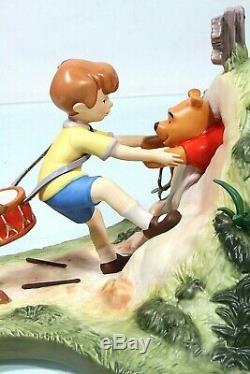 Wdcc Disney Winnie L'ourson Hourra Hourra Pour Pooh Sera Bientôt Libre Mint Coa Le