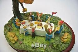 Wdcc Hip! Hanche! Pooh-ray! Winnie L'ourson Et The Walt Disney Day Blustery Avec Coa