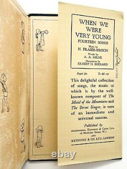 When We Were Very Young First Edition A. A. Milne 1924 Winnie L'ourson