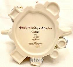 Winnie L'célébration De L'anniversaire De Pooh Teapot Disney Lenox Fine Ivoire Chine