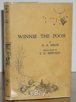 Winnie L'ourson 1er / 1ère Édition W. Premier État D'origine Veste A. A. Milne
