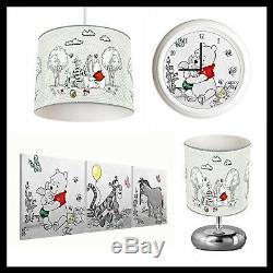 Winnie L'ourson (201) Nursery Unisexe Abat, Lampe, Horloge Et Photos