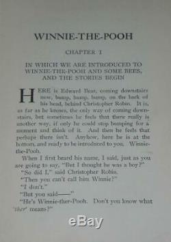 Winnie L'ourson A. A. Milne Dutton 1re Édition 1926 Rare
