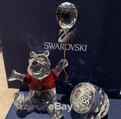 Winnie L'ourson Disney Swarovski Caractère Authentique Cristal Mib 905768