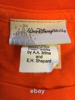 Winnie L'ourson Disneys Animal Kingdom. Orange Et Jaune Vintage. XL